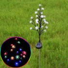 2Pcs/Set 20LEDs Solar Branch Light Double Layer Outdoor Lawn Lamp Garden Yard Decor colors_Solar lawn light