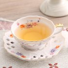 2Pcs/Set Ceramic Drinkware Coffee Cup + Saucer 160ml Floral Pattern Dinnerware