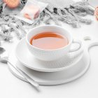 2Pcs/Set White Ceramic Coffee Cup Saucer Set Simple Solid Color Ceramic Drinkware Set white