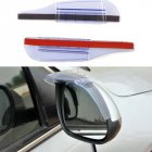 2Pcs Universal Air-drying Rear-view Mirror Rain Eyebrow Cover Safe Driving Rain Cover Transparent