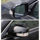 2Pcs Universal Air-drying Rear-view Mirror Rain Eyebrow Cover Safe Driving Rain Cover black