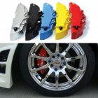 2Pcs Universal Brake Pliers Caliper Cover Decoration Cover for Cars Medium Size blue