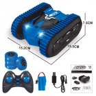 2in1 Remote Control Double Side Stunt Vehicle Track + Desert Wheel Switch blue