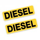 2pcs 10.6 * 3CM DIESEL Letters Fashion Funny Retro-Reflective Car Sticker Decals Photo Color