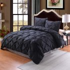 2pcs/3pcs Soft Pleated Duvet  Cover Pillowcase Bedding  Cover  Set