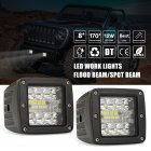 2pcs Aluminum Flush Mount Led Pods 48W Spot Flood Combo Off Road Led Recessed Driving Pods For Ute Bumper Reverse Lamps