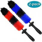 2pcs Car Brush Wheel Hub Special Car Hair Brush Tire Brush Soft Hair Cleaning Beauty Supplies