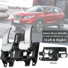 2pcs Car Left Right Door Handle Bowl Cover 80671-JD00E 80670-JD00E Interior Door Handle for Auto Nissan Qashqai 2007-2013