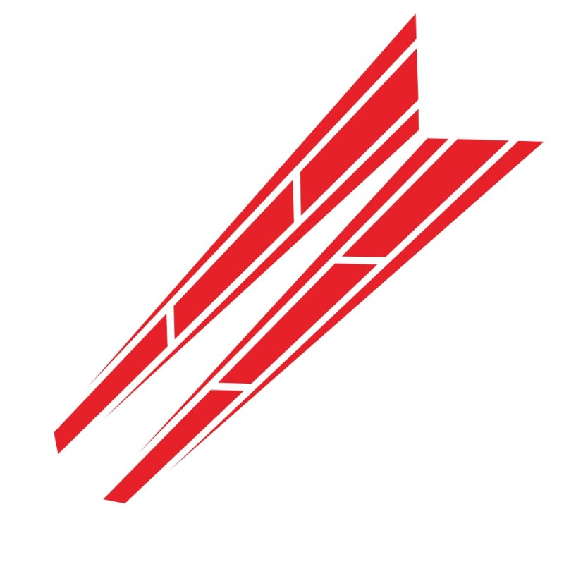2pcs Car Racing Sport Stripe 4.5 '' x 31.5 '' Cover Vinyl Decals Graphics Truck Bonnet stickers  red