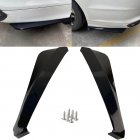 2pcs Car Rear Bumper Universal Rear Trunk Lip Spoiler Anti-crash Diffuser Lip Wrap Angle Splitter Protector  black