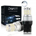 2pcs Fast Heat Dissipation LED Bulb for Car Canbus Waterproof Light 6500K   T20 white light