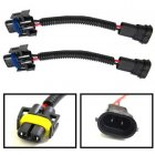 2pcs H11 Ceramic Extension Wiring Harness Sockets Double-headed Wires Adapter for Headlights etc
