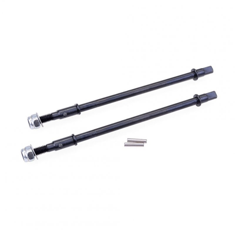 2pcs Hard Steel Front/Rear Axle CVD Drive Shaft for 1/10 Rc Crawler Axial Scx10 2PCS_Post-CVD