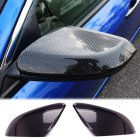 2pcs Rearview Mirror Cover Side Door Mirror Carbon Fiber Cover Trim For Honda Civic 2016 2017 2019