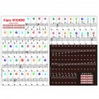 Piano Keyboard Sticker 88/61/54/49 Key Electronic Keyboard Key Piano Stave Note Sticker Musical Accessaries As shown