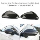 2pcs Replacement Carbon Fiber Rear Side Mirror Cover for Volkswagen golf 7