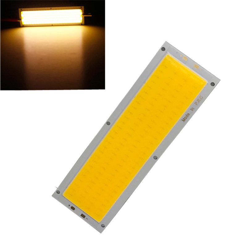 2pcs/Set 12V 10W COB LED Strip Lights Bulb 120x36mm Lamp 1000LM 3000