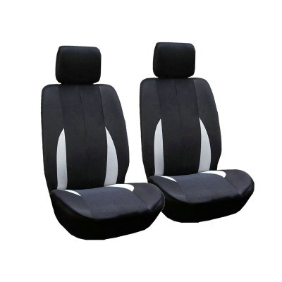 Gray 2PCS/Set Car Front Breathable Seat Cover