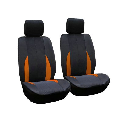 Car Front Breathable Seat Covers Orange color
