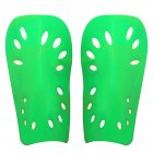 2pcs Soccer Shin Guard Pads Soft Football Cuish Plate Breathable Shinguard Leg Protector For Men Women Children green