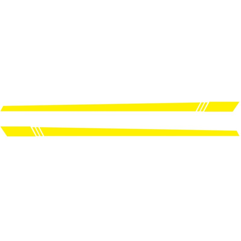 2pcs/lot 220x8cm Car Sticker Stripe Style Side Stripes Car Both Body Stickers Decal Car Wrap Vinyl Film Automobiles Products Car Accessories yellow