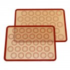 2pcs/pack Silicone Baking  Mat Non-stick Baking Sheet Perfect Baking Pad Cookie Kit Medium (30 circles with red border) 42*29.5