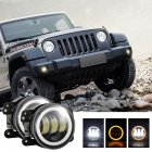 2pcs/set 4 inches 30 watts 6000K for jeep LED Angel Eye Fog Lamp yellow light
