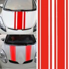 2pcs/set 72 inch x3 inch DIY Black Car Body Vinyl Racing Stripe Pinstripe Decal Stickers red