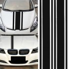 2pcs/set 72 inch x3 inch DIY Black Car Body Vinyl Racing Stripe Pinstripe Decal Stickers black
