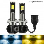 2pcs/set 880/881 9005/9006 H8/H11 5202 Dual Color Truck High Power Headlight Bulb Cool white + amber_880/881