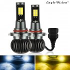 2pcs/set 880/881 9005/9006 H8/H11 5202 Dual Color Truck High Power Headlight Bulb Cool white + amber_9005/9006