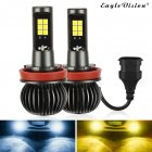 2pcs set 880 881 9005 9006 H8 H11 5202 Dual Color Truck High Power Headlight Bulb Cool white   amber H8 H11