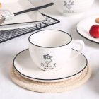 2pcs/set Ceramic Cup+Saucer Elegant Pattern Coffee Tea Mug for Home Family Restaurant