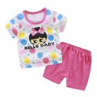 2pcs/set Children Tops+Shorts Cotton Suit