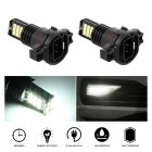 2pcs/set H16/5202 8 Rows 6000K 24SMD 12V 24W LED High Bright Lights Bulb