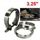 3.25Inches SUS 304 Stainless Steel Exhaust V Band Clamp Kit V-Band Vband Male Female Design