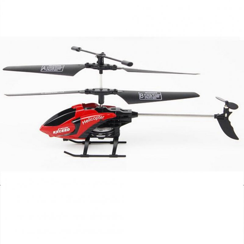 3.5 Channel Remote Control Helicopter with Gyro and Light Anti-shock RC Toy Helicopter for Children Red