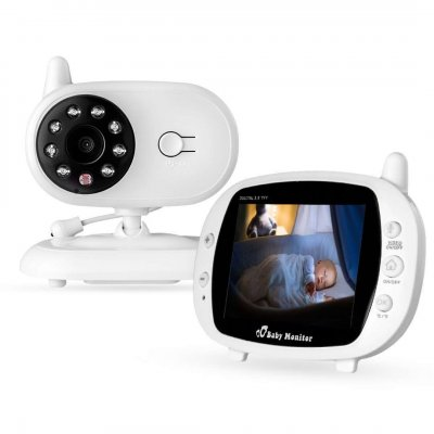 3.5 Inch Newborn Baby Infant Care Device Night Vision Monitor Device Baby Monitor UK Plug