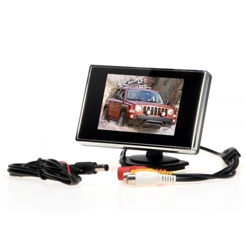 3.5 Inch TFT LCD Car Monitor Auto TV Car Rearview Camera Monitor Parking Assist Backup Reverse Monitor Car DVD Screen 3.5 inches