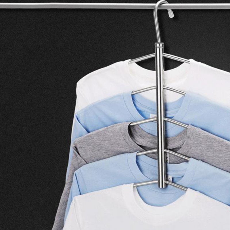 3/5 Layers Anti-slip Stainless Steel Sweater Shirt Hanging Clothes Hanger Clothing Storage Space Saver 5 layers