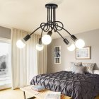 3/5 Pastoral Modern Ceiling Lamps Lights for Living Study Dining Room  black_5 heads
