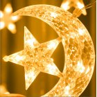3.5m LED Light String Atmosphere Lamp Star Moon Waterproof PVC Curtain Decoration Light