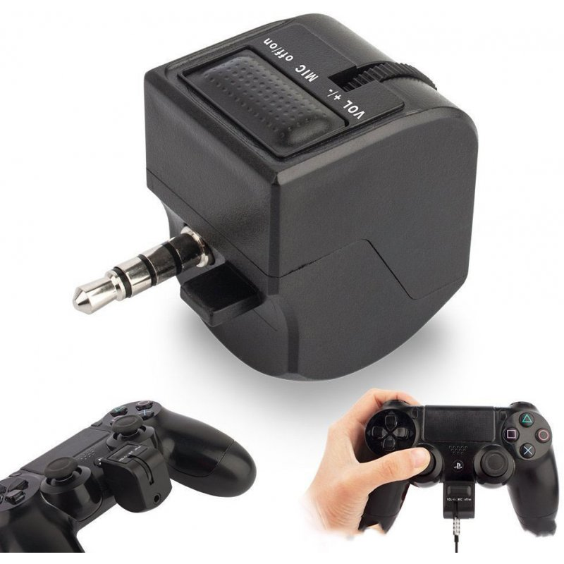 3.5mm Audio Jack Headset Adapter With Mic Volume Control For PlayStation 4 PS4 3.5MM interface