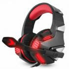 3.5mm Gaming Headset MIC LED Headphones Stereo for PC PS4 Slim Pro Xbox one X S red