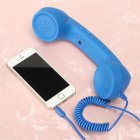 3 5mm Universal Phone Telephone Radiation proof Receivers Cellphone Handset Classic Headphone MIC Microphone Blue