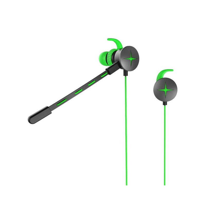 3.5mm Wired Gaming Headset with Pluggable Microphone Portable Stereo Headphones green