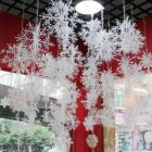 3/6pcs Christmas Tree Decoration Exquisite Wiredrawing Snow Flowers Hanging Pendant for Home Decor 23cm_3pcs