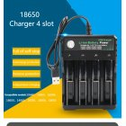 3.7V 18650 Charger Li-ion Battery USB Independent Charging Portable 18350 16340 14500 Battery Charger Four slots