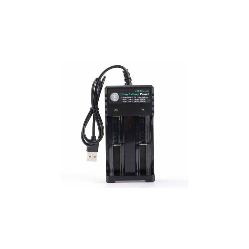 3.7V 18650 Charger Li-ion Battery USB Independent Charging Portable 18350 16340 14500 Battery Charger Two slots