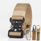 3 8cm Men Tactical Belt Army Fans Outdoor Training Belt   Khaki
